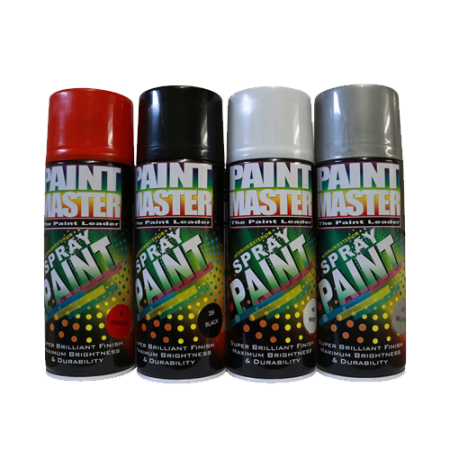 Paint Master Spray 400ml (Orange, Red, Black, White, Silver)